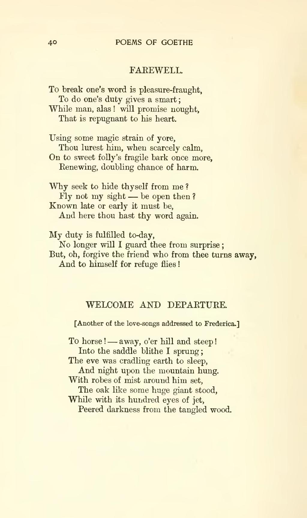 Magical Agust Night Under Giant Oak >> Page The Works Of J W Von Goethe Volume 9 Djvu 62 Wikisource