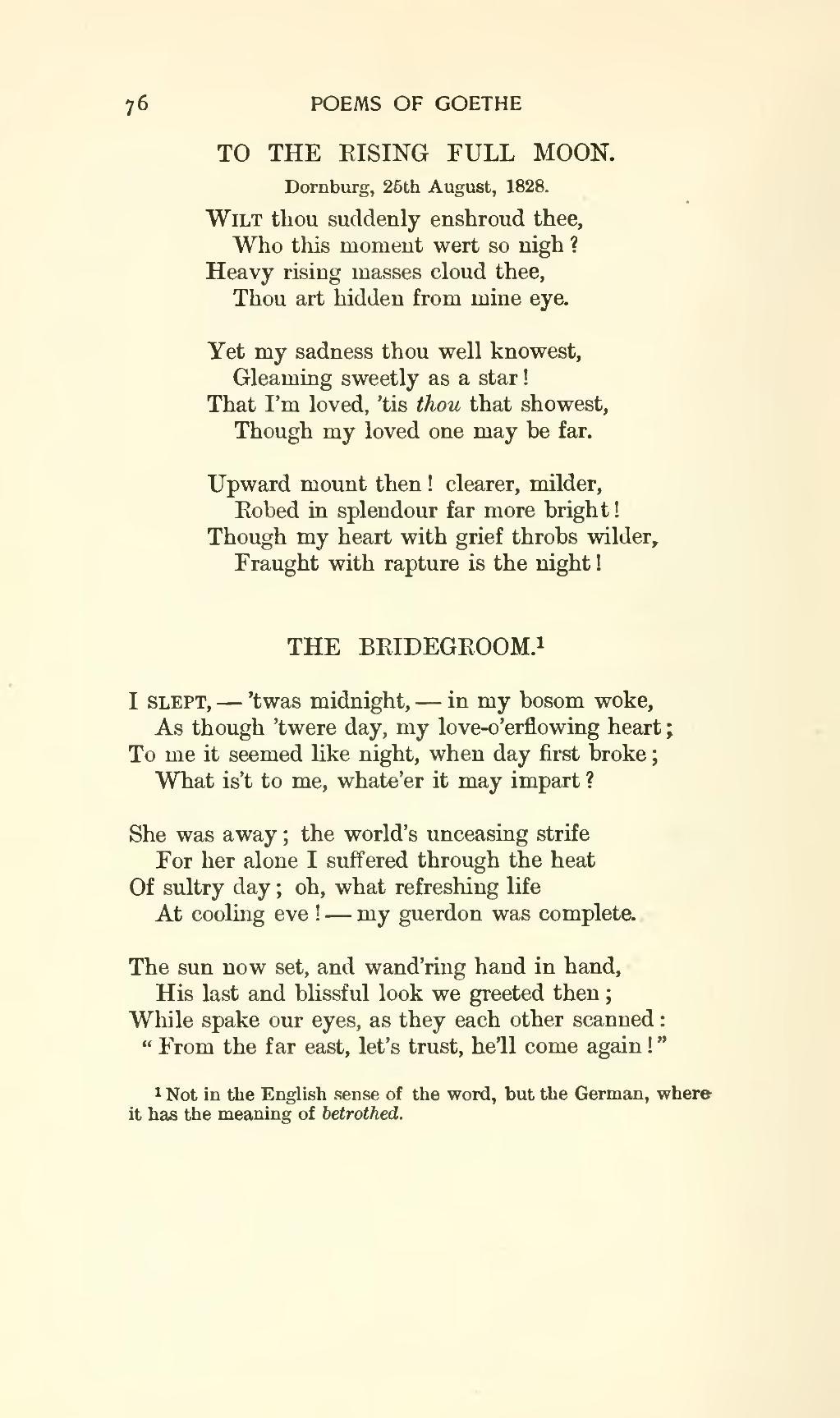 Pagethe Works Of J W Von Goethe Volume 9vu98 Wikisource