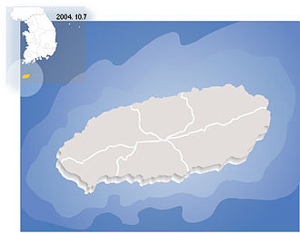 Korean regional cuisine - Map of Jeju Island
