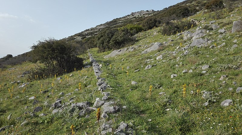 File:The arduous footpath to the acropolis, Philippi, Greece.jpg