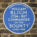 The blue plaque of William Bligh the commander of the Bounty.jpg