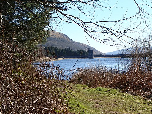 The dam, Llwyn-onn reservoir - geograph.org.uk - 1744019