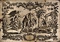 The fall; expelled from Eden, Adam and Eve raise a family an Wellcome V0034422.jpg