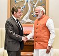 The former President of France, Mr. Nicolas Sarkozy calls on the Prime Minister, Shri Narendra Modi, in New Delhi on March 18, 2017.jpg