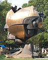 The relocated Sphere statue by Fritz Koenig (2638496396).jpg
