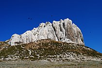 The rocky outcrop of the Upper Cretaceous.JPG