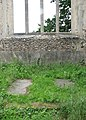 The ruined church of St Mary - ledger slabs on chancel floor - geograph.org.uk - 1366334.jpg