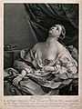 The suicide of Cleopatra; Cleopatra is shown lying on her be Wellcome V0041565.jpg