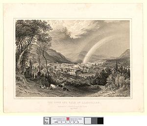 Llangollen - Llangollen in 1850