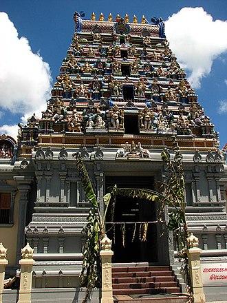 Hinduism in Seychelles - Image: Thiru Navasakthi Vinayakar Kovil Victoria
