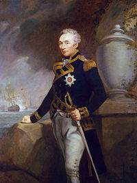 Thomas Graves en uniforme de contre-amiral Huile sur toile de James Northcote, collections du National Maritime Museum