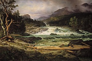 Thomas Fearnley - Thomas Fearnley - The Labro Falls at Kongsberg