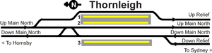 Thornleigh railway station - Track layout