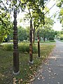 Three Kopjafa memorials at Gubody Park. - Cegléd.JPG