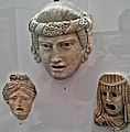 Three Stone Dramatic Masks (Roman, 1st-2nd Century AD) - British Museum.jpg