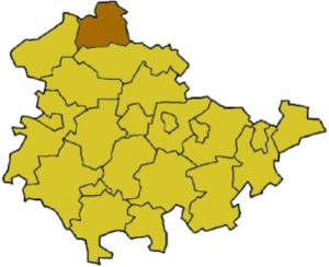 Nordhausen (district) - Image: Thuringia ndh
