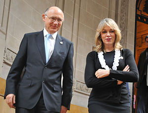 Secretary General of the Union of South American Nations - Image: Timerman y Mejía