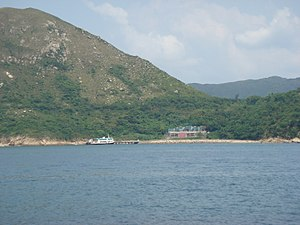 Joss House Bay - Distant view of the Tin Hau Temple at Joss House Bay.