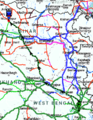 Tirhut Express Route Map.png