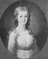 Elisa von der Recke, porträtiert von Wilhelm Tischbein (um 1775) (Quelle: Wikimedia)
