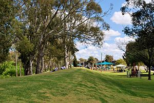 Tocumwal - The levee and foreshore park at Tocumwal