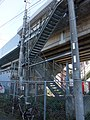 Tokaido Shinkansen maintenanceworkers stair - Nishiya.jpg