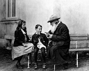 Childhood (novel) - Tolstoy and his grandchildren, c. 1909