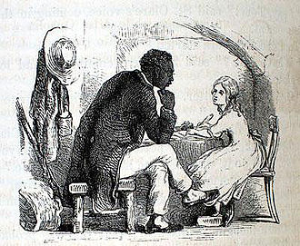 Uncle Tom's Cabin - Illustration of Tom and Eva by Hammatt Billings for the 1853 deluxe edition of Uncle Tom's Cabin