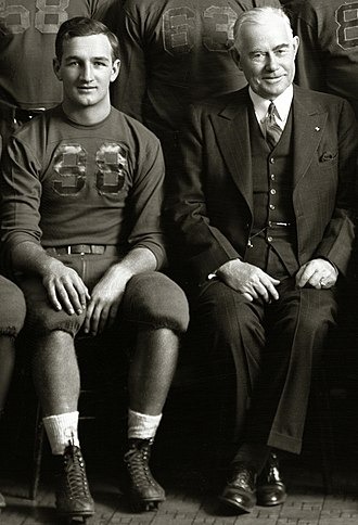 Tom Harmon - Harmon with Fielding H. Yost in 1940
