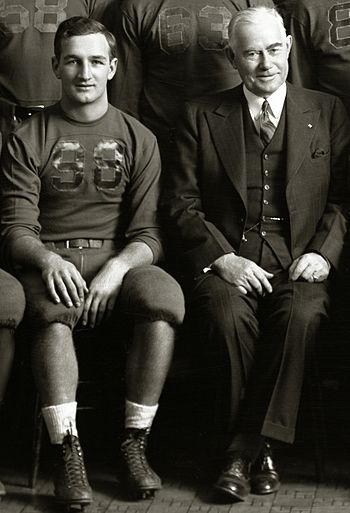Harmon with Fielding H. Yost in 1940 Tom Harmon and Fielding Yost 1940.jpg