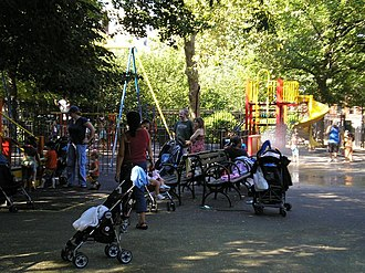 Tompkins Square Park - Children at play in the summer