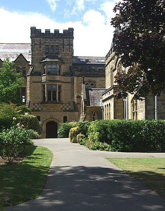 A section of the main building, Tonbridge School