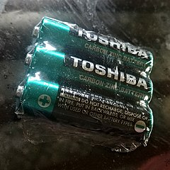 Toshiba zinc battery