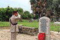 Touching ceremony this morning to remember all those who lost their lives in 7 Sept 1946 air crash.jpg