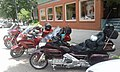 Touring motorcycles State Street downtown Montpelier VT July 2016.jpg