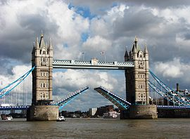 Tower Bridge,London Getting Opened 4.jpg
