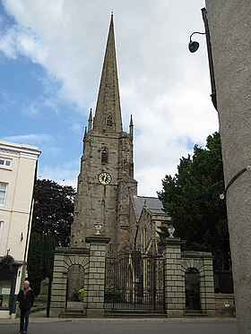 Tower and spire, St Mary's Priory Church - geograph.org.uk - 867907.jpg