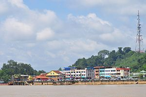 Kanowit - Image: Town on Rejang River panoramio
