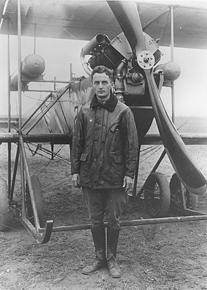 Townsend F. Dodd - Captain Dodd standing in front of his aircraft