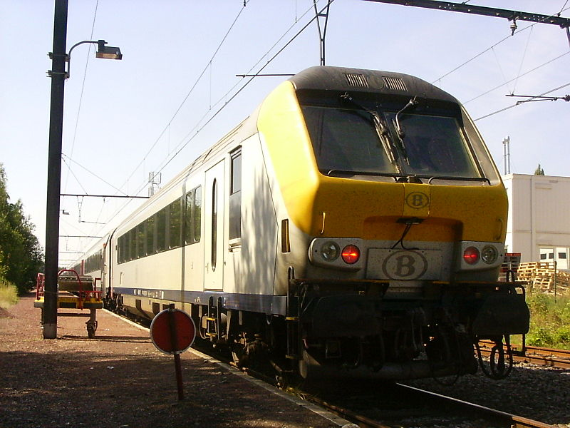 Train at Eupen train station