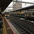 Trains arriving at the Ichikawa Station.jpg