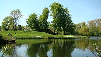 """Bredevoort - """"Grote Gracht"""", the town ditch with remains of the former Star fort of Bredevoort"""