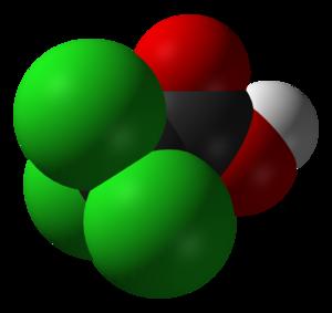 Trichloroacetic acid - Image: Trichloroacetic acid 3D vd W