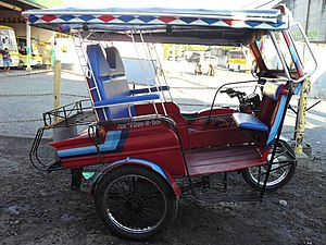 Motorized tricycle (Philippines) - A motorized tricycle in Dumaguete City