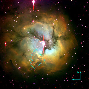 Trifid Nebula - Trifid Nebula by the Hubble Space Telescope