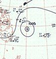 Tropical Storm Susan analysis 28 Feb 1961.png