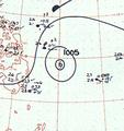 Tropical Storm Susan analysis 28 Feb 1961.png