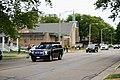 Trump motorcade in Kenosha Wisconsin to tour protest damage.jpg