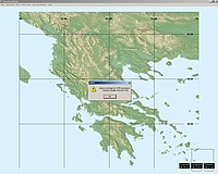 Example showing Greece extending over more than one UTM zone