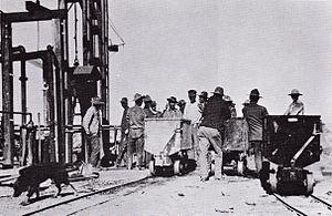 Twin Buttes, Pima County, Arizona - Image: Twin Buttes Miners Arizona Circa 1905